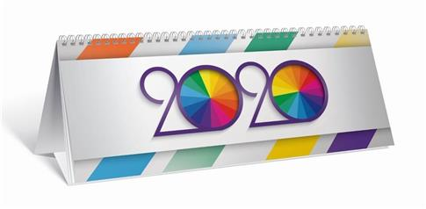 Kalendarz 2020 biurkowy poziomy OXFORD