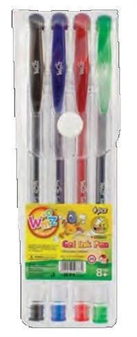 Długopisy żelowe brokatowe 4 kolory LAMBO