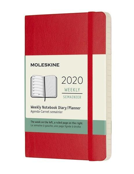 Kalendarz 2020 tygodniowy 12MP mo. Scarlet red