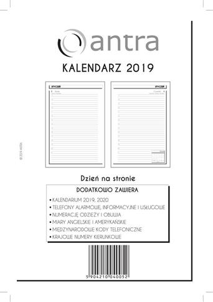Kalendarz 2019 Wkład A5 DNS ANTRA