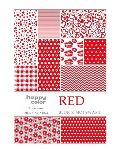 Blok A4/10 z motywami Red HAPPY COLOR