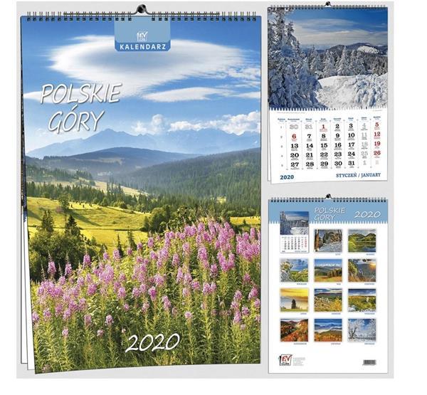 Kalendarz 2020 7 Plansz B3 - Polskie góry EV-CORP
