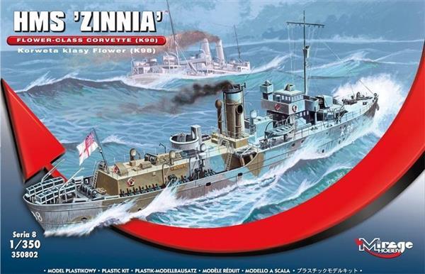 Brytyjska Korweta klasy Flower K98 HMS Zinnia