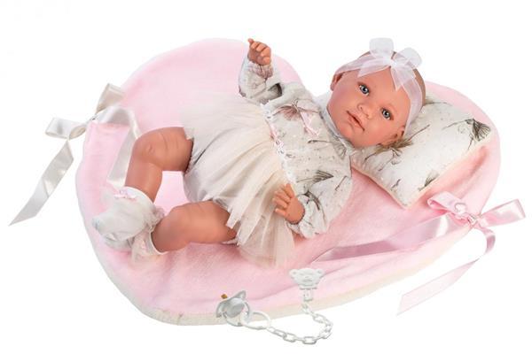 Lalka 74062 Mimi bobas rózowy kocyk