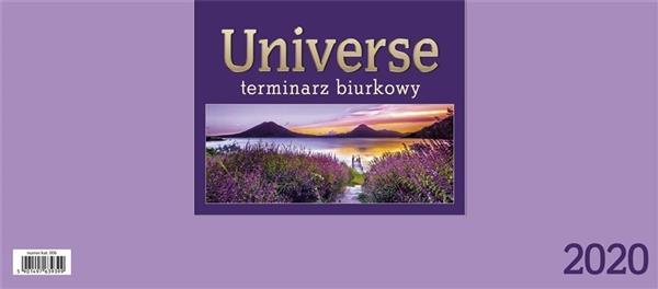 Kalendarz 2020 Biurkowy Universe - fioletowy