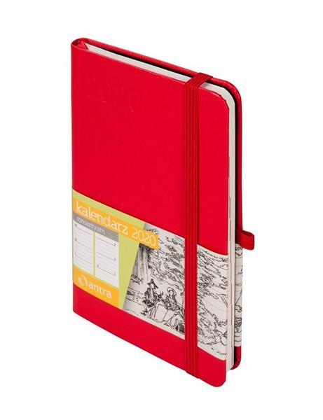 Kalendarz 2020 Romantyzm A6 Czerwony TDW ANTRA