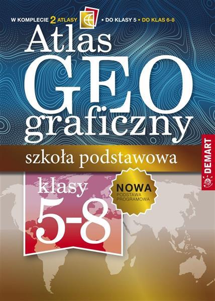 Pakiet: Atlas geog. Szkoła podstawowa 5 -8 klasa
