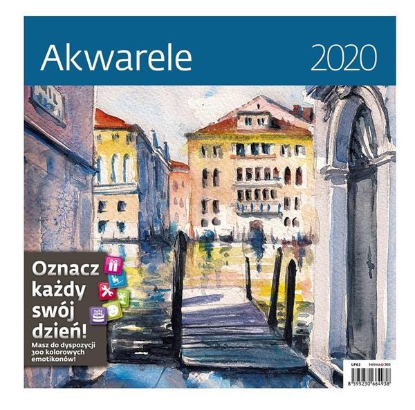 Kalendarz 2020 Akwarele 30x30cm NARCISSUS
