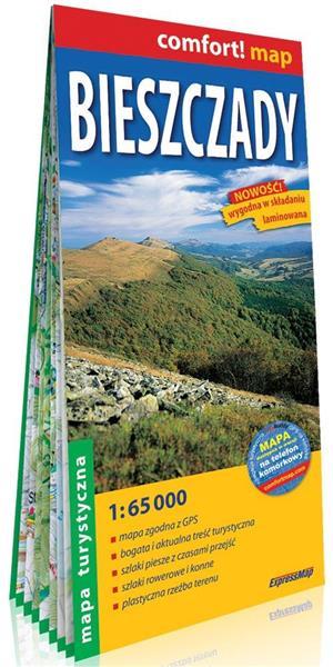 Comfort! map Bieszczady mapa turystyczna 1:65 000