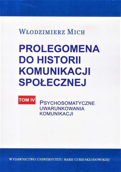 Prolegomena do historii komunikacji społecznej T.4