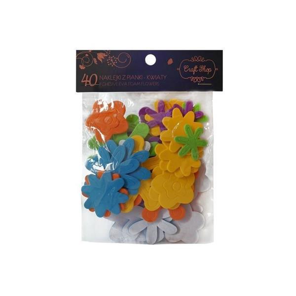 Naklejki z pianki - Kwiaty CRAFT SHOP