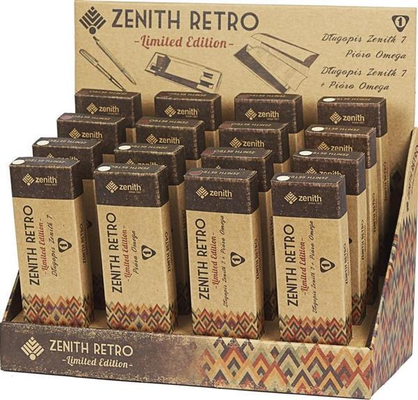 Długopis + pióro Zenith retro dspl 16 szt