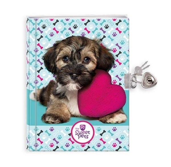 Pamiętnik z kłódką Sweet Pets Pies