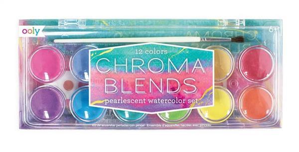 Farby akwarelowe perłowe 12 farb + pędzelek