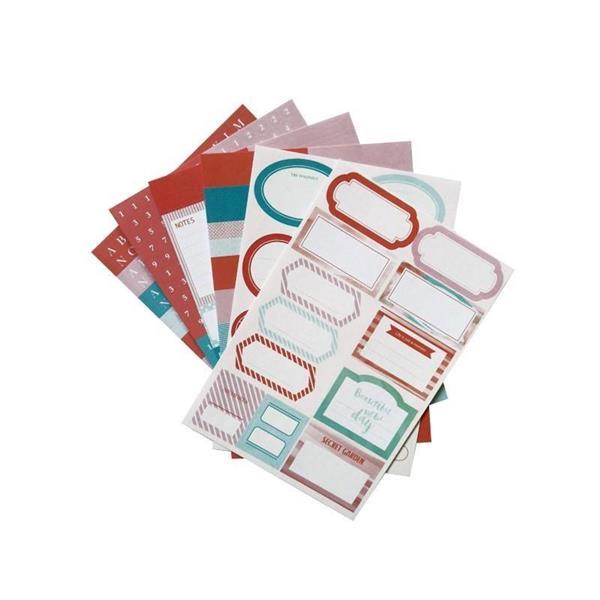 Zestaw naklejek - etykiety i litery