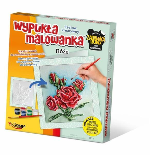 Wypukła Malowanka - Kwiaty Róże