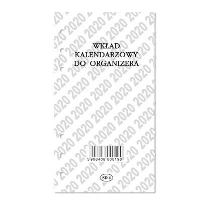 Wkład kalendarzowy do organizera SAPT 2020 SD4