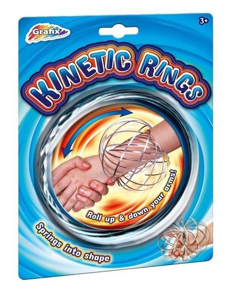 Kinetic rings silver