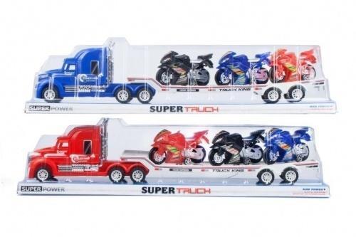 Auto ciężarowe z motocyklami