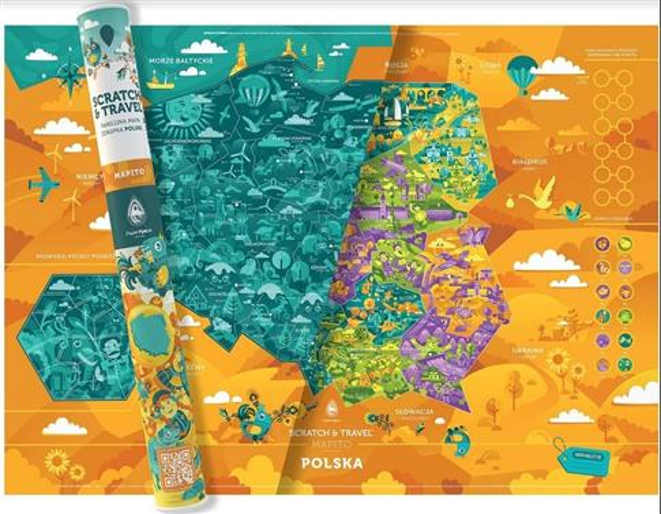 Mapa zdrapka. Polska MAPITO