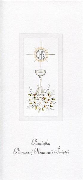 Karnet Komunia Kielich srebrny MAK