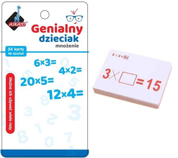 Genialny dzieciak - fiszki matematyczne mnożenie