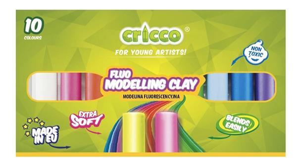 Modelina fluorescencyjna 10 kolorów CRICCO