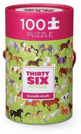 Puzzle 100 el. - Konie