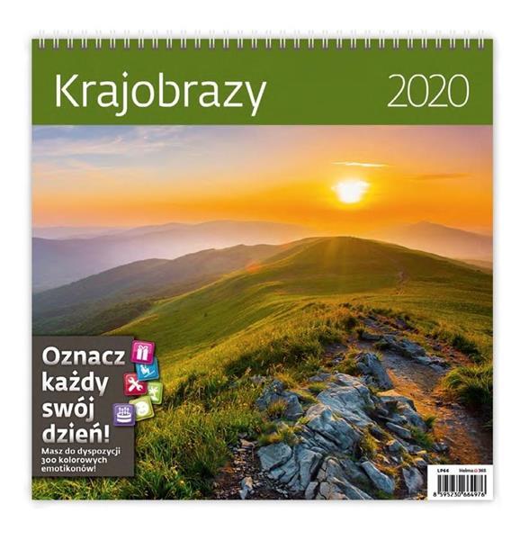 Kalendarz 2020 Krajobrazy 30x30cm NARCISSUS