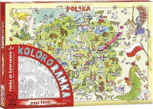 Kolororamka. Mapa Polski