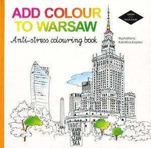 Add colour to Warsaw. Anti-stress colouring book