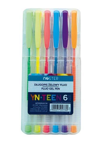 Długopis Gel Fluo 6 kolorów etui NOSTER