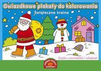 Gwiazdkowe plakaty do kolorowania. Świąteczna..out