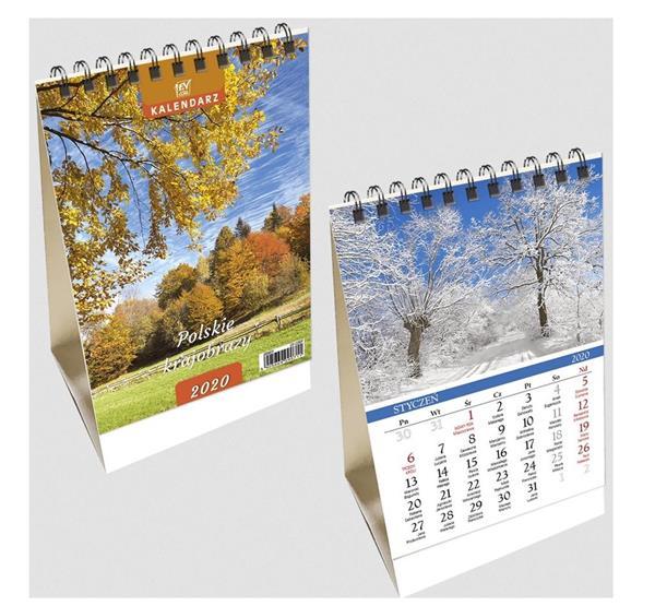 Kalendarz biurkowy 2020 pion mały Pl krajobrazy
