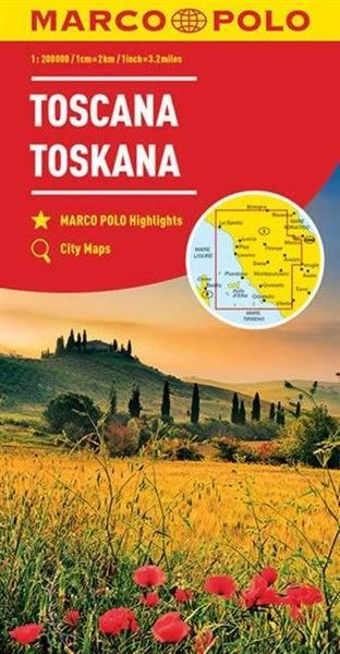 Mapa Drogowa Marco Polo. Toskania 1:300 000