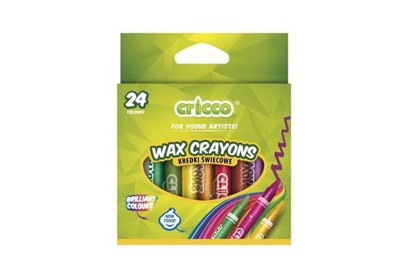Kredki świecowe 24 kolory CRICCO