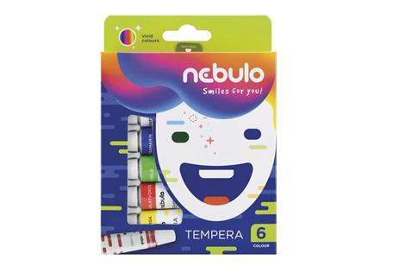 Farby tempera w tubie 6 kolorów NEBULO