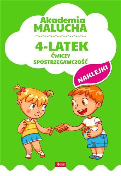 Akademia malucha. 4-latek ćwiczy spostrzegawczość