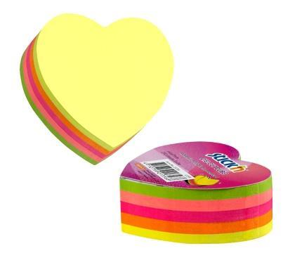 Notes serduszko mix 5 kolorów neon 250 kart.