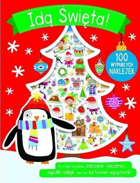 100 wypukłych naklejek - Idą Święta