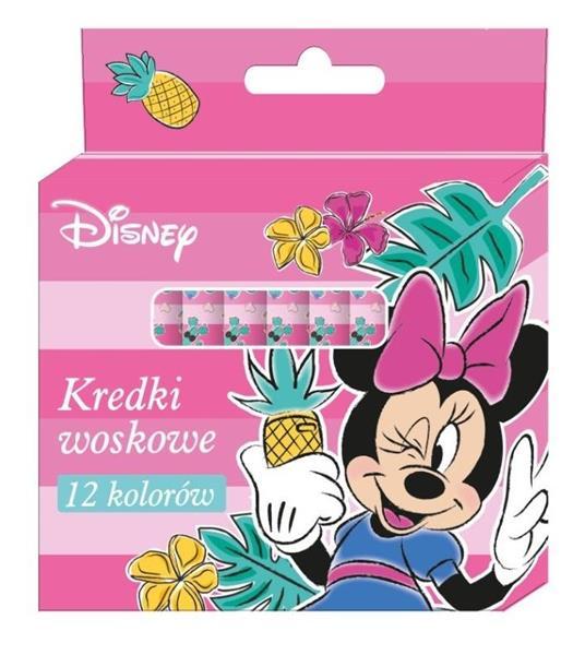 Kredki woskowe 12 kolorów Minnie Mouse