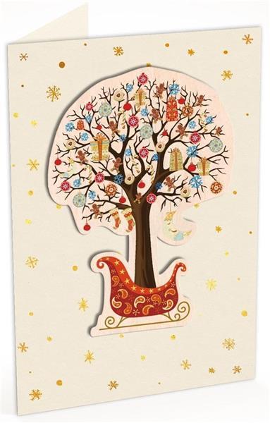 Karnet C6 naklejany + kop. Święta Drzewko