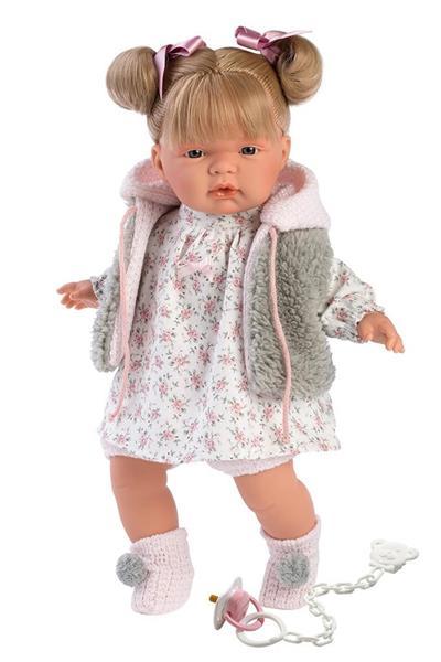 Lalka 38332 Joelle płącząca blondynka futerko 38cm