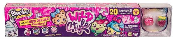 Shopkins S9 Wild Mega Pak 20-pak + tatuaże