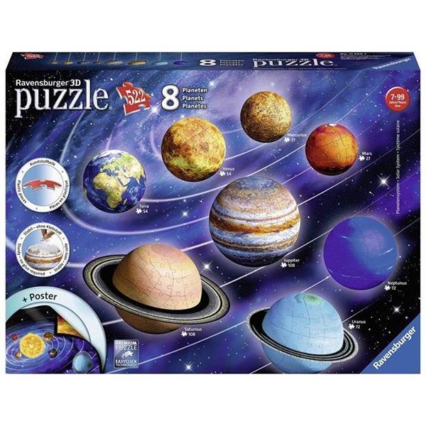 Puzzle 3D Układ Planet 522 elementy