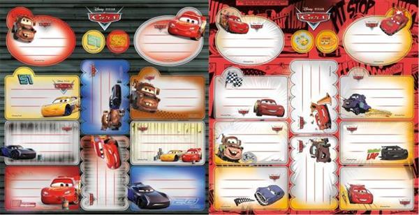 Naklejki na zeszyty Cars