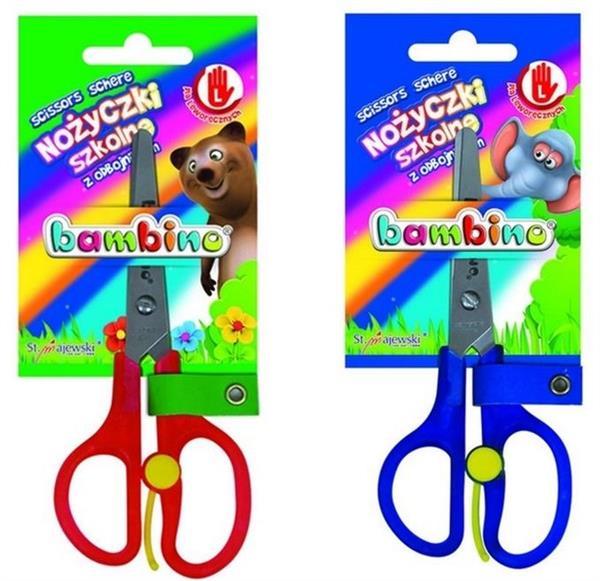 Nożyczki szkolne dla leworęcznych bls BAMBINO
