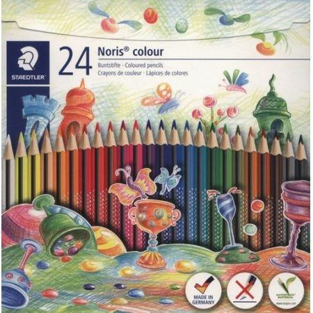 Kredki trójkątne Noris Colour 24 kolory STAEDTLER