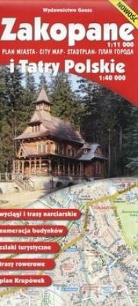 ZAKOPANE PLAN 1:11 000 I TATRY POL. 1:40 000outlet