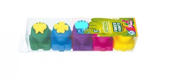 Farby do malowania palcami 5 kolorów CRICCO